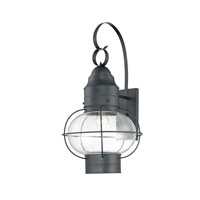 Quoizel Lighting Cooper 1 Light Outdoor Wall Lantern in Mystic Black COR8414K