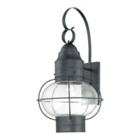 Quoizel Cooper 1 Light Outdoor Wall Lantern in Mystic Black COR8414KFL