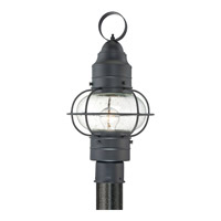 Quoizel Cooper 1 Light Outdoor Post Lantern in Mystic Black COR9010KFL