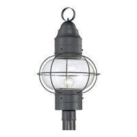 Quoizel Cooper 1 Light Outdoor Post Lantern in Mystic Black COR9014KFL