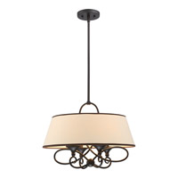 Capri 4 Light 20 inch Imperial Bronze Pendant Ceiling Light