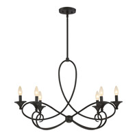 Quoizel CP5006IB Capri 6 Light 32 inch Imperial Bronze Chandelier Ceiling Light