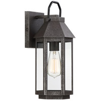 Quoizel CPB8407SPB Campbell 1 Light 15 inch Speckled Black Outdoor Wall Light