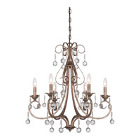 Quoizel Capulin 6 Light Chandelier in Empire Gold CPN5006EG