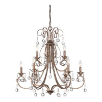 Quoizel Capulin 9 Light Chandelier in Empire Gold CPN5009EG