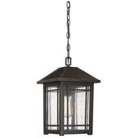 Quoizel CPT1910PN Cedar Point 1 Light 10 inch Palladian Bronze Outdoor Hanging Lantern