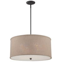 Quoizel Lighting Cloverdale 4 Light Pendant in Mottled Cocoa CRA2822MC