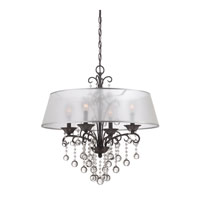 Quoizel CRE5004FR Carrabelle 4 Light 24 inch French Bronze Chandelier Ceiling Light