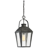 Carriage 1 Light 10 inch Mottled Black Outdoor Hanging Lantern