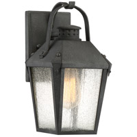 Carriage 1 Light 12 inch Mottled Black Outdoor Wall Lantern
