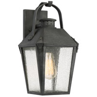 Carriage 1 Light 15 inch Mottled Black Outdoor Wall Lantern