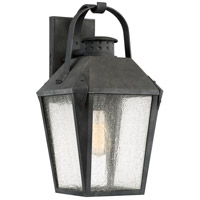 Carriage 1 Light 19 inch Mottled Black Outdoor Wall Lantern