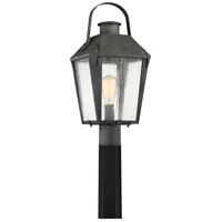 Carriage 1 Light 22 inch Mottled Black Outdoor Post Lantern
