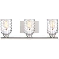 Cristal 3 Light 21 inch Brushed Nickel Vanity Light Wall Light