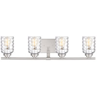Cristal 4 Light 30 inch Brushed Nickel Vanity Light Wall Light