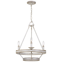 Quoizel CRL5003AWH Corral 3 Light 19 inch Antique White Chandelier Ceiling Light
