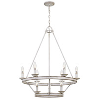 Quoizel CRL5009AWH Corral 9 Light 28 inch Antique White Chandelier Ceiling Light