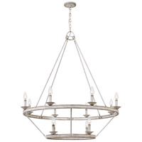 Corral 12 Light 39 inch Antique White Chandelier Ceiling Light