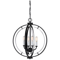 Quoizel CRT2818EK Concert 4 Light 18 inch Earth Black Pendant Ceiling Light