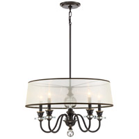 Quoizel CRY5005PN Ceremony 5 Light 25 inch Palladian Bronze Chandelier Ceiling Light