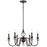 Ceremony 6 Light 28 inch Palladian Bronze Chandelier Ceiling Light