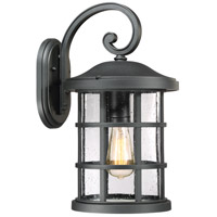 Quoizel CSE8410EK Crusade 1 Light 18 inch Earth Black Outdoor Wall Lantern