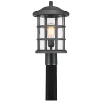 Crusade 1 Light 17 inch Earth Black Outdoor Post Lantern