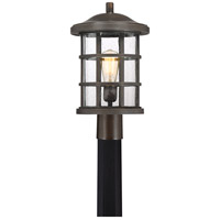 Quoizel CSE9010PN Crusade 1 Light 17 inch Palladian Bronze Outdoor Post Lantern