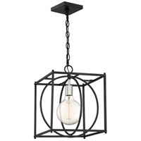 Crosswise 1 Light 14 inch Earth Black Foyer Piece Ceiling Light, Extra Large
