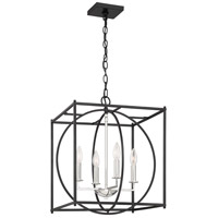 Crosswise 4 Light 18 inch Earth Black Foyer Piece Ceiling Light, Extra Large