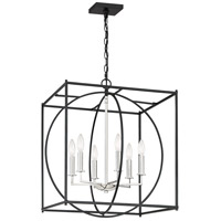 Crosswise 6 Light 23 inch Earth Black Foyer Piece Ceiling Light, Extra Large