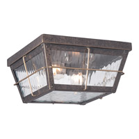 Quoizel Cortland 2 Light Outdoor Flush Mount in Imperial Bronze CTD1612IB