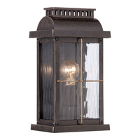 Quoizel Cortland 1 Light Outdoor Wall Lantern in Imperial Bronze CTD8407IBFL