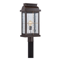 Quoizel Cortland 1 Light Outdoor Post Lantern in Imperial Bronze CTD9010IB