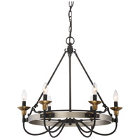 Castle Hill 6 Light 25 inch Antique Nickel Chandelier Ceiling Light in B10 Candelabra Base