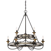 Quoizel CTH5009AN Castle Hill 9 Light 31 inch Antique Nickel Foyer Chandelier Ceiling Light in B10 Candelabra Base