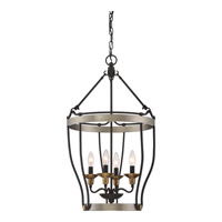 Castle Hill 4 Light 17 inch Antique Nickel Foyer Chandelier Ceiling Light in B10 Candelabra Base