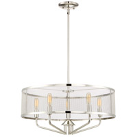 Cityscape 5 Light 22 inch Polished Nickel Pendant Ceiling Light