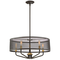 Cityscape 5 Light 22 inch Western Bronze Pendant Ceiling Light