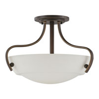 Quoizel Lighting Chantilly 3 Light Semi-Flush Mount in Palladian Bronze CY1718PN alternative photo thumbnail