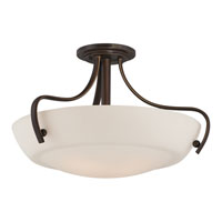 Quoizel Lighting Chantilly 4 Light Semi-Flush Mount in Palladian Bronze CY1722PN alternative photo thumbnail