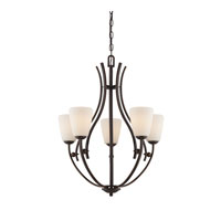 Quoizel Lighting Chantilly 5 Light Chandelier in Palladian Bronze CY5005PN