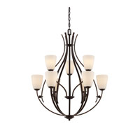 Quoizel Lighting Chantilly 9 Light Chandelier in Palladian Bronze CY5009PN photo thumbnail