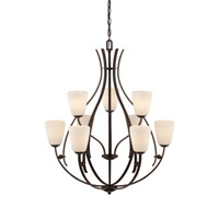 Quoizel Lighting Chantilly 9 Light Chandelier in Palladian Bronze CY5009PN alternative photo thumbnail