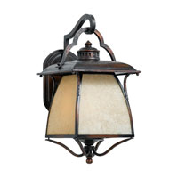 Quoizel Lighting Cozy Cottage 3 Light Outdoor Wall Lantern in Burnished Copper CZ8411BD photo thumbnail
