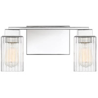 Quoizel DAN8615PK Danson 2 Light 15 inch Polished Nickel Bath Light Wall Light