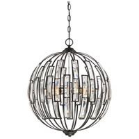 Dawn 4 Light 20 inch Earth Black Pendant Ceiling Light
