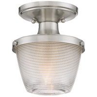 Dublin 1 Light 7 inch Brushed Nickel Semi-Flush Mount Ceiling Light