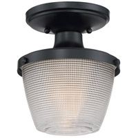 Dublin 1 Light 7 inch Mystic Black Semi-Flush Mount Ceiling Light