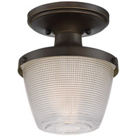Dublin 1 Light 7 inch Palladian Bronze Semi-Flush Mount Ceiling Light